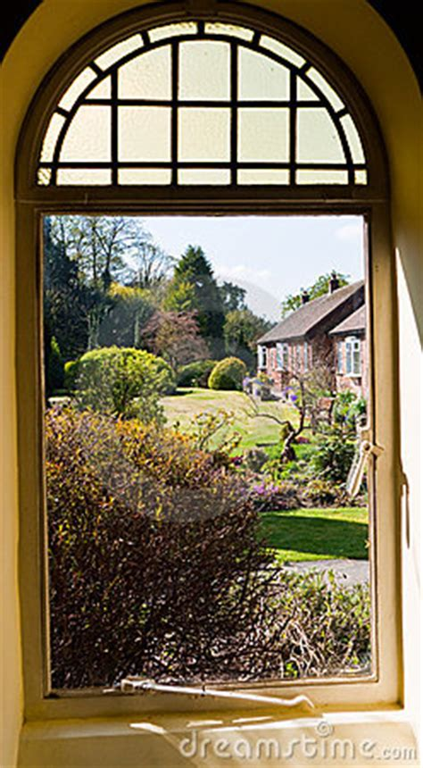 view  garden   window royalty  stock images