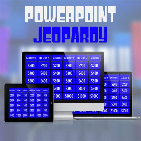 Powerpoint Jeopardy Template For Ipad And Widescreen Mactemplates Com Jeopardy Ppt Template With