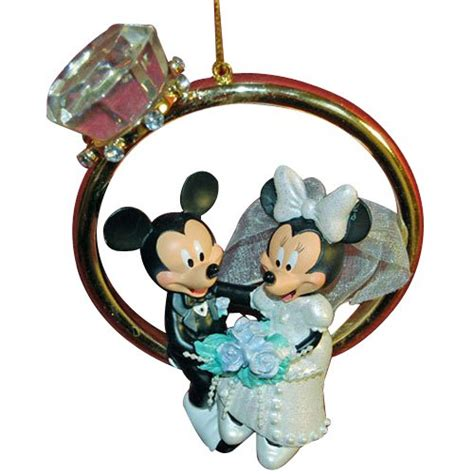 disney mickey minnie wedding ring ornament christmas