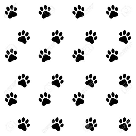 paw background pawprint background clipart