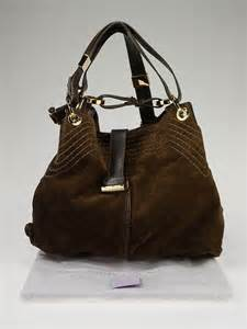 Jimmy Choo Alex Purse by Jimmy Choo Cognac Suede And Watersnaketrim Alex Bag