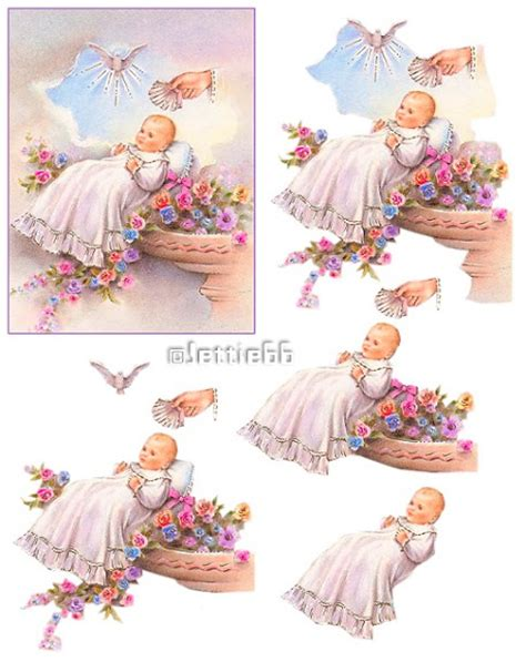decoupage sheet illust newborn baby