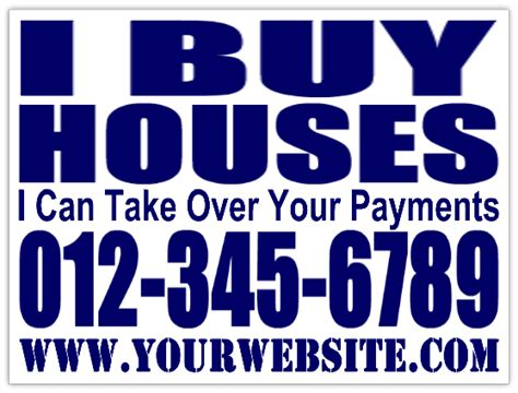 i buy houses signs i buy houses bandit signs investment property real estate