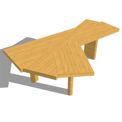 Dining Table Leg Placement by Ventaglio Table 3d Model Formfonts 3d Models Amp Textures