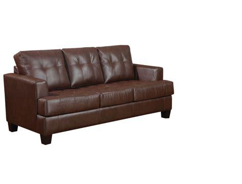 Coaster Sleeper Sofa Samuel Sofa Sleeper 2mm Eco Friendly Bonded Leather By Coaster