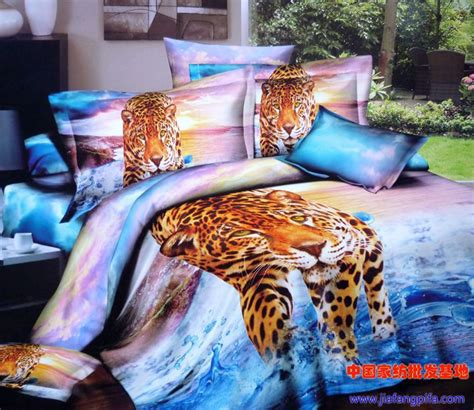 3d aqua blue purple leopard animal print bedding set queen