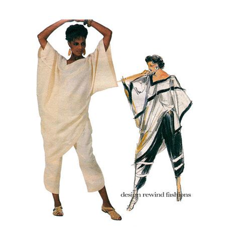 Blouse As 715 518 1980s vogue tunic top pattern from design rewind at