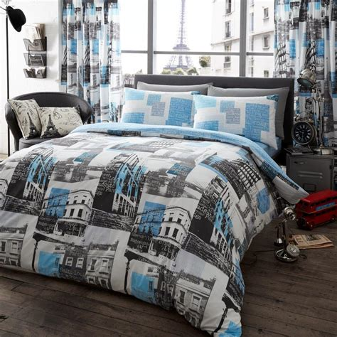 london paris comforter set london to paris printed duvet set blue
