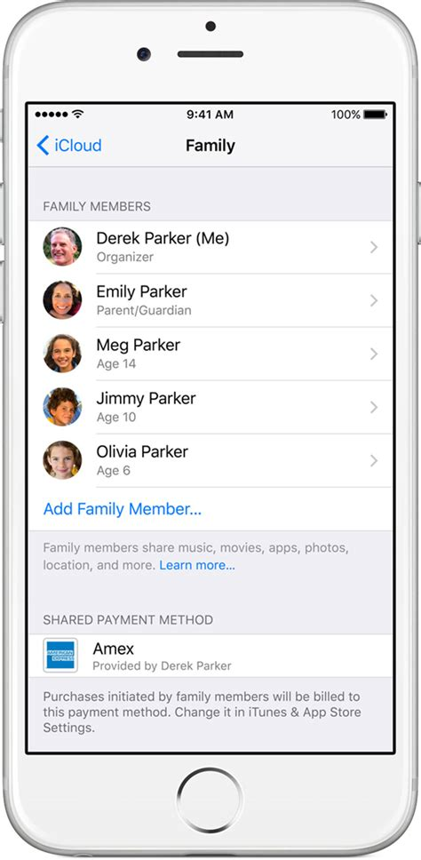 apple family sharing family sharing apple support