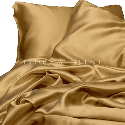 satin bed sheets luxury gold silk feel satin king size bed sheet set hotel