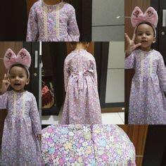 Kaftan Nadira Kid Black Gamis Anak measure before order 2017 raya fashion inspiration flowergirl dress