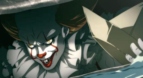 anime the anime clip with it s pennywise the clown is even creepier