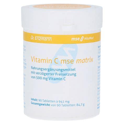 Vitamin Matrix Vitamin C Matrix 500 Mg Mse Nem Tabletten 90 St 252 Ck