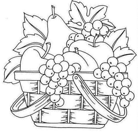 fruit basket art clip art line drawings sketching