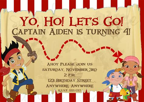free printable jake and the neverland pirates birthday