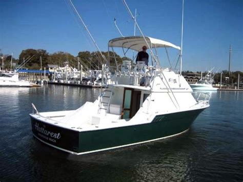 convertible fishing boat brands 1983 used hatteras 32 flybridge convertible fishing boat