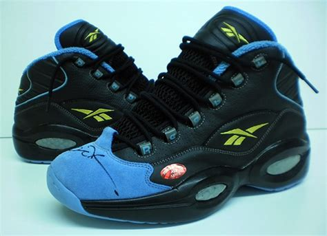 denver nuggets basketball shoes reebok question allen iverson worn autographed