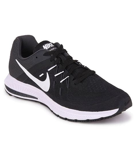 nike sport shoes nike zoom winflo 2 black sports shoes price in india buy