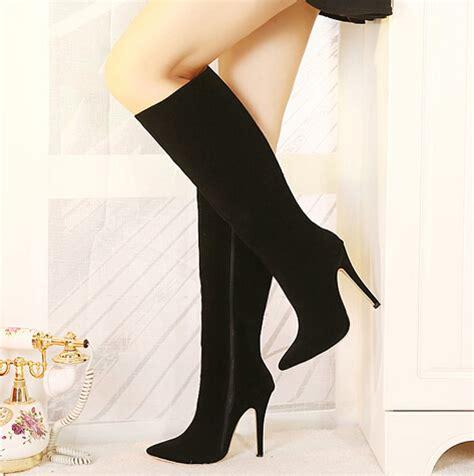 cheap winter fashion pointed toe zipper design stiletto