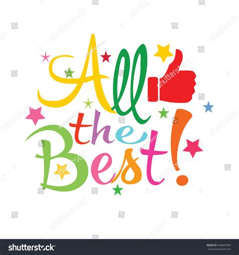 all best all best greeting card stock vector 546847009