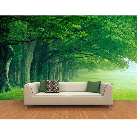 3d wallpaper decor for home green trees wallpaper home decor european large murals