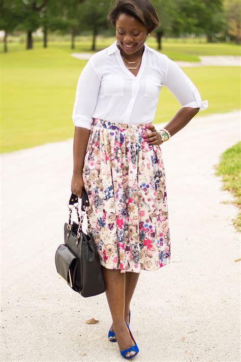 how to wear a midi skirt to work