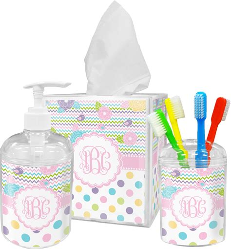 girly girl bathroom accessories set personalized rnk shops