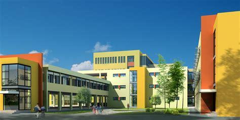 3d building design free large school building design 3d model max 3ds cgtrader