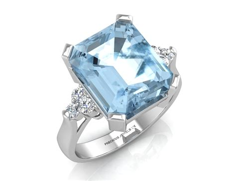 9ct white gold blue topaz engagement ring rrp