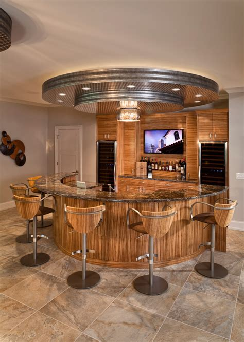 Modern Round Home Bar Wooden Furniture #8395   House