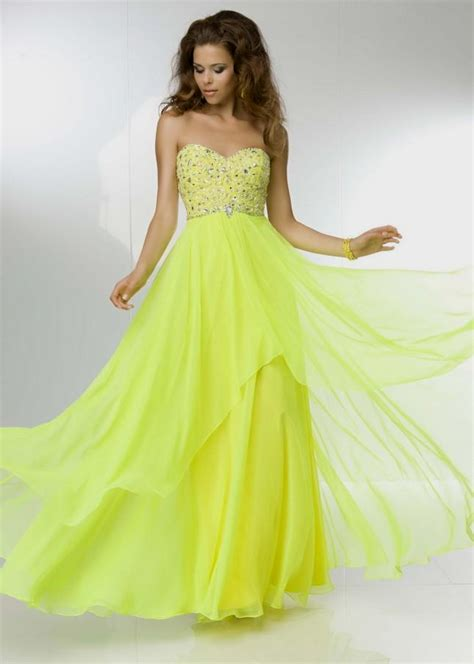 neon yellow prom dresses fashion dresses - Bright Formal Dresses