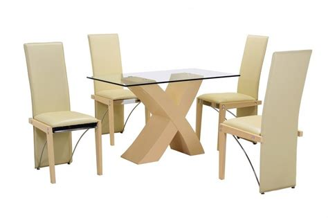 small glass table and chairs uk beech small clear glass dining table and 4 faux chairs