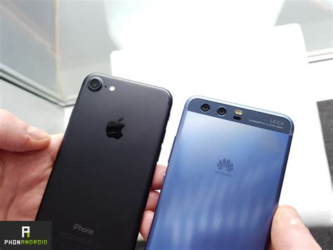 iphone v huawei huawei p10 vs iphone 7 une ressemblance vraiment flagrante