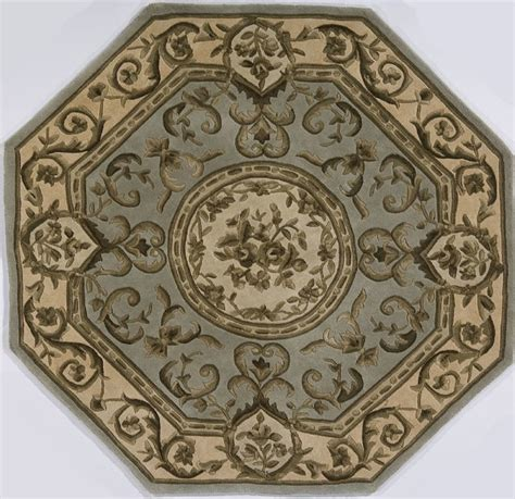 octagon rug 6 european renaissance octagon 6 0 quot x6 octagon mint green area rug traditional rugs by rugpal