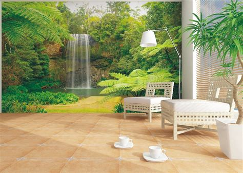 wall murals wallpaper wall mural wallpaper nature jungle downfall plant photo 360 cm x 270 cm 3 94 yd x 2 95 yd