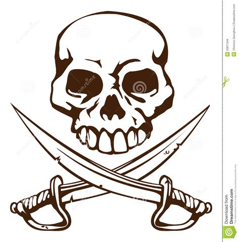 pirate skull and swords tattoo www pixshark com images
