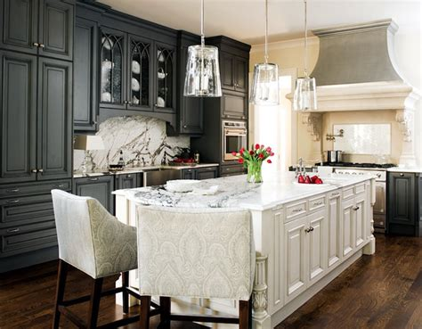 White Kitchen Gray Island by Charcoal Gray Kitchen Cabinets Design Ideas