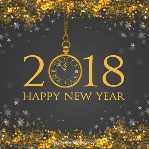 freepik new year new year background with golden glitter vector free