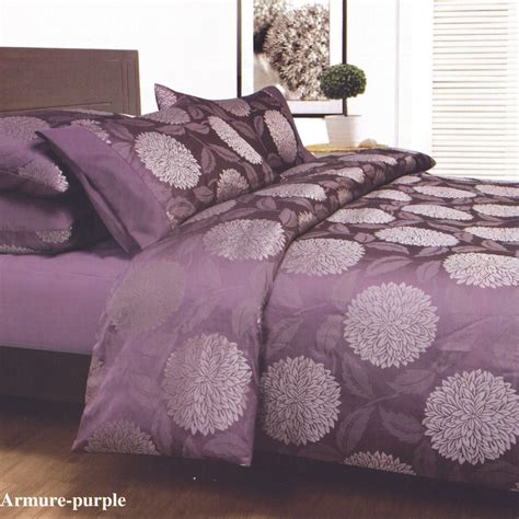 armure purple plum king jacquard quilt doona duvet cover