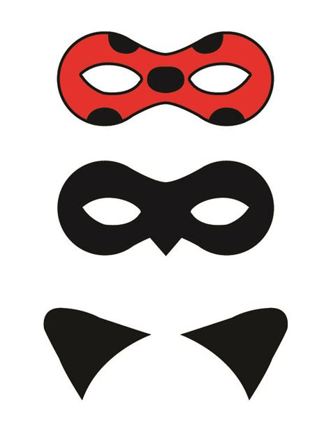 printable ladybird mask free printable masks and cat ears for ladybug and cat noir