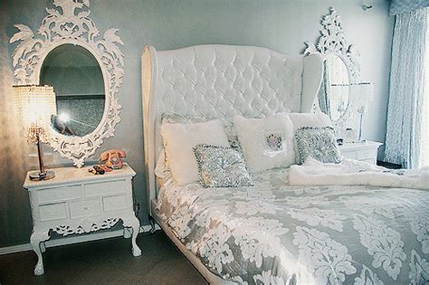 bedroom room silver white image 210961 on favim