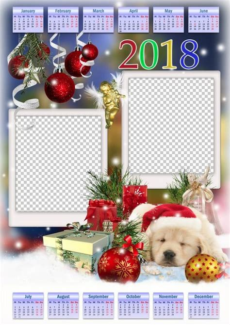 Calendar 2018 Photoshop Free Psd Calendar For Photoshop Png Image Year