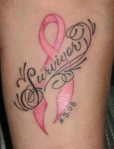 cancer ribbon tattoos pictures breast cancer survivor pink warrior survivor