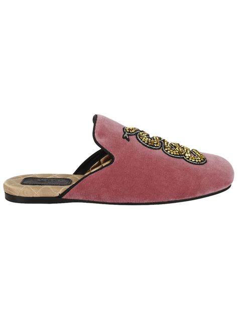 gucci slippers for gucci gucci snake appliqu 195 169 evening slippers pink