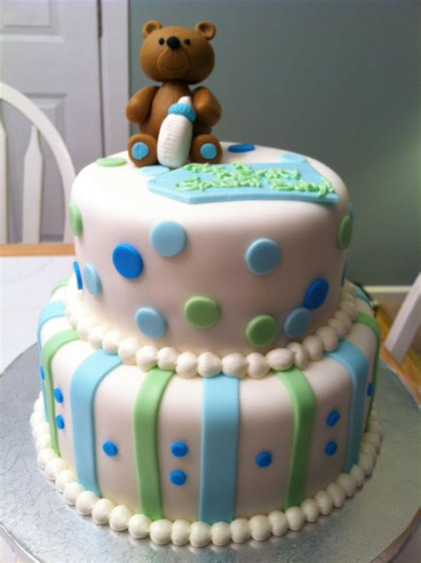 Teddy Baby Shower Cake Ideas by Teddy Baby Shower Cake J Cakes