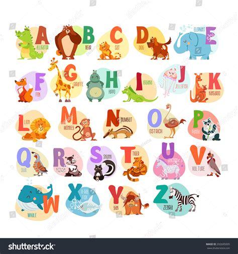 animal alphabet u education animal alphabet animal animals alphabet children education stock