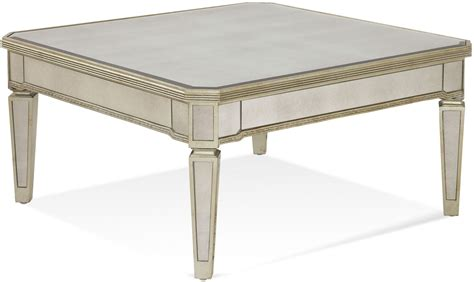 Borghese Mirrored Coffee Table Borghese Mirrored Square Cocktail Table 8311 130ec