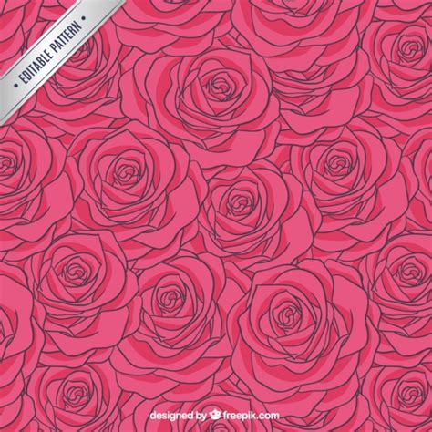 pink pattern free vector roses pattern in hot pink tone vector free download
