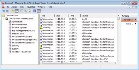 event viewer open and use in windows 7 windows 7 help how to get back windows xp s fast event viewer in windows