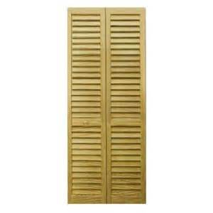 90 Inch Bifold Closet Doors Bay 36 In X 80 In 36 In Plantation Louvered Solid Unfinished Wood Interior